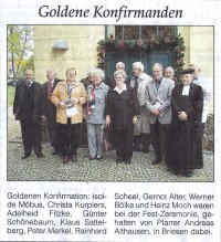 Goldene Konfirmation