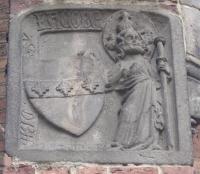 der Heilige Jacobus am Eingang von St. Marien in Frankfurt (Oder)