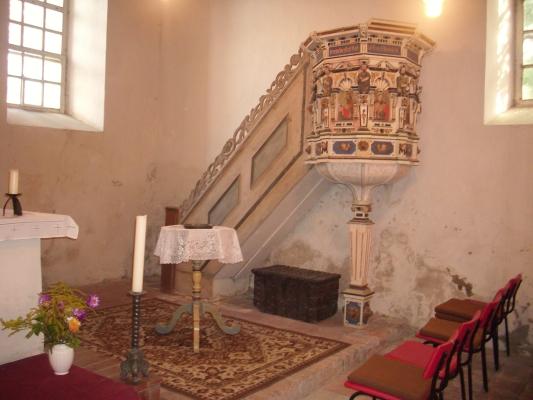 Petersdorfer Kirche Kanzel