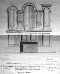 Zeichnung der Orgel
