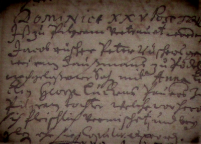 Kirchbucheintrag Pillgram 1672