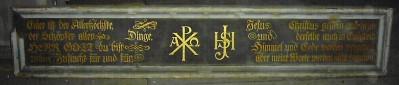 Tafel unter dem Gottesauge